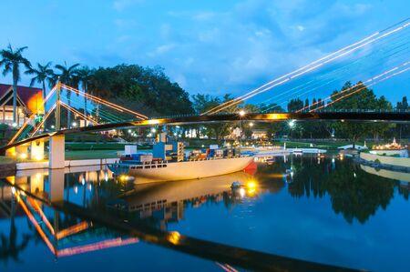 Bridge is reproduced to mini size in mini siam, Thailand.