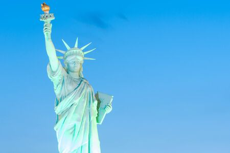 reproduced: statue of liberty is reproduced to mini size in mini siam, Thailand.
