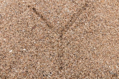 Character Y of the alphabet writing on the sand Stock Photo - 17754169