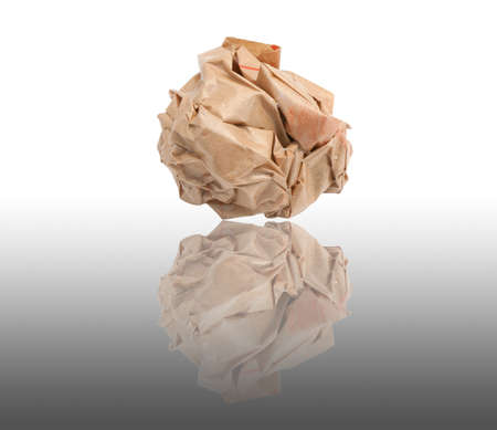 ball lump: Lump crumpled paper isolate on white background