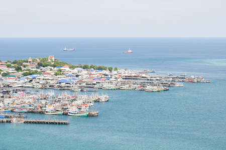 Fishing village near the sea of Thailand photo