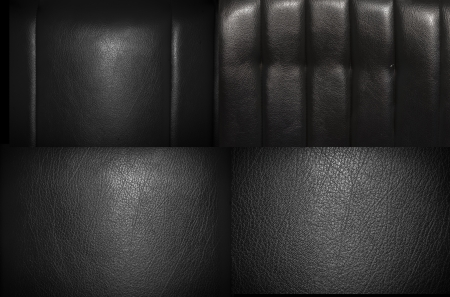 car seat: Black leather for texture from car seats