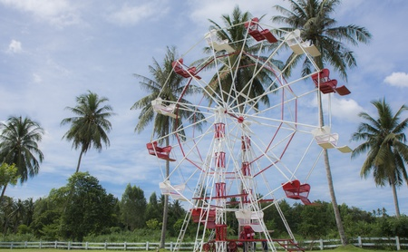 fairs: Ferris Wheel in farm at pattaya of Thailand Stock Photo