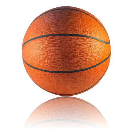 A Basketball isolated on the white background
