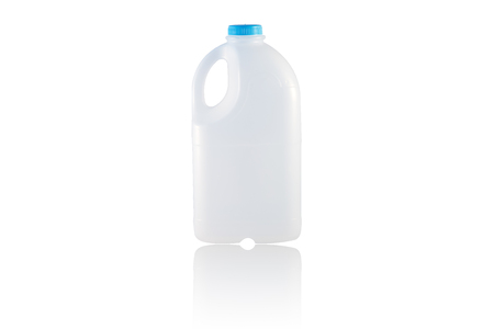 A Gallon Milk isolate on the white  photo