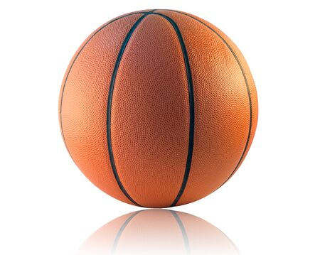 basketball ball: A Basketball isolated on the white