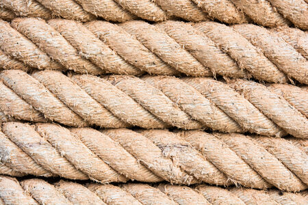 roll of ship ropes for background texture photo