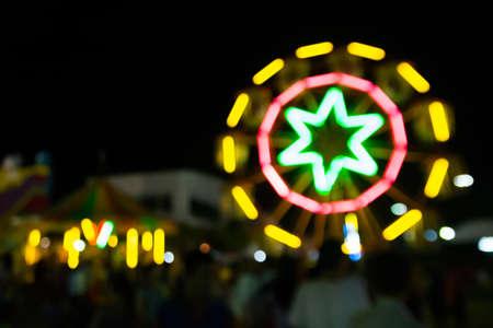Ferris wheel bokeh for you a background photo