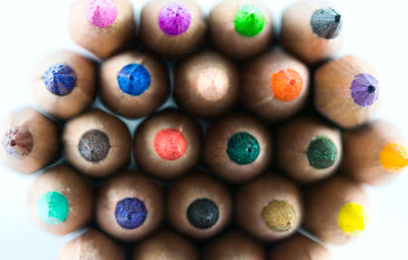 Colorful pencils and on a white background photo