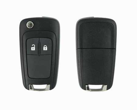 color key: Car key remote on a white background