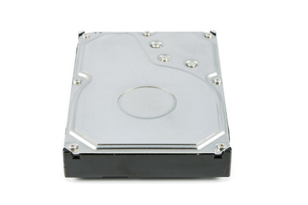 hdd: Hard disk drive (HDD) isolate on white