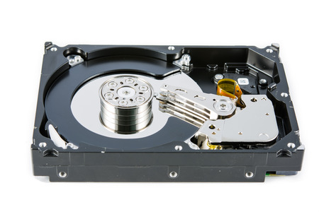 terabyte: Hard disk isolated and on a white background
