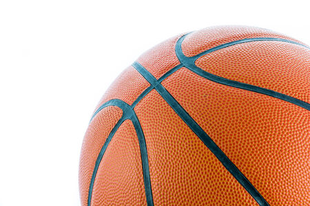 Closeup Basketball or Basket Ball isolate on white background photo