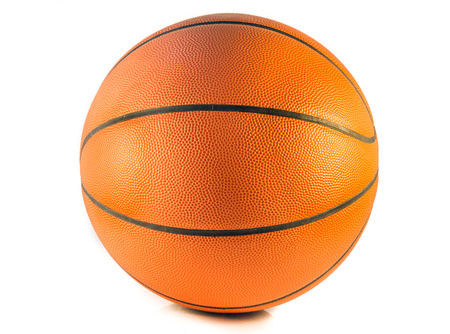 Closeup Basketball or Basket Ball isolate on white background
