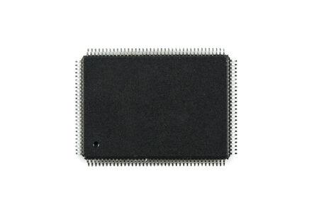 Close up IC radioelement photos isolated on white background