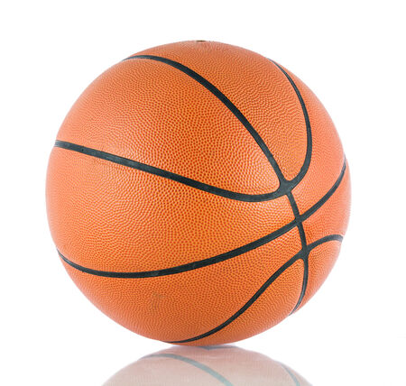 floor ball: Ball for the game in basketball isolate on over white background