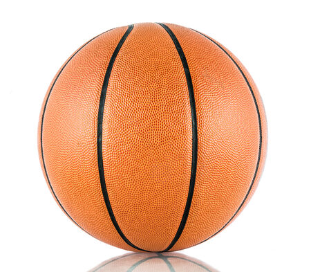 basketball net: Ball for the game in basketball isolate on over white background