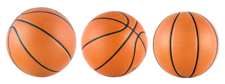 Ball for the game in basketball isolate on over white background photo