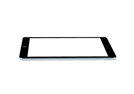 tablet computer isolated on over white background photo