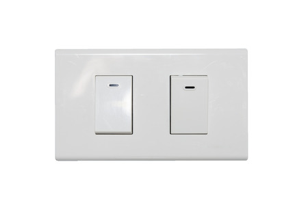 light switch isolate on over white background photo