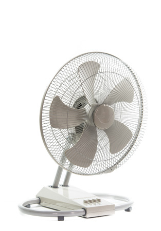 industry metal fan isolate on over white background photo