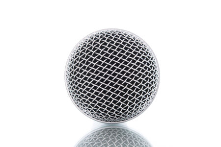 microphone without cable isolated on white over\ background
