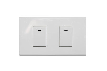 light switch: light switch isolate on over white background