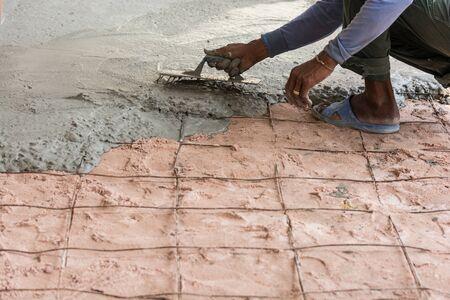 plasterer: Plasterer concrete cement floor