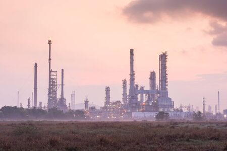 chonburi: Oil refinery power station at sunshine at Chonburi of Thailand Editorial