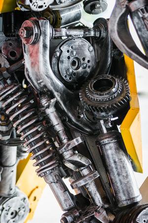 machinery: Gear machinery part robot on white background Stock Photo