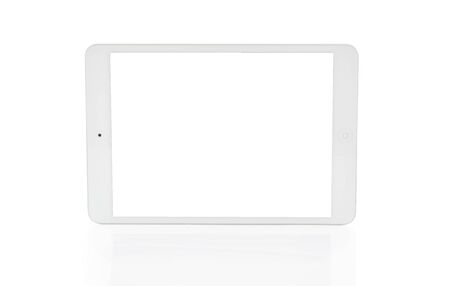 White tablet computer isolated on over white background Stockfoto