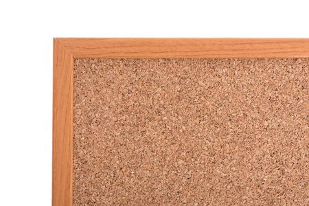 pin board: Brown cork pin board frame isolate on white background