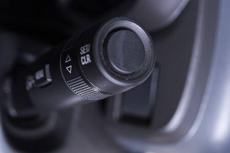 wiper: Car interior wipers control stalk close up modern car wiper control swicth