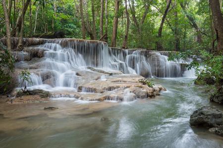 Huay Mae Kamin Waterfall Park, Kanchanaburi of Thailand