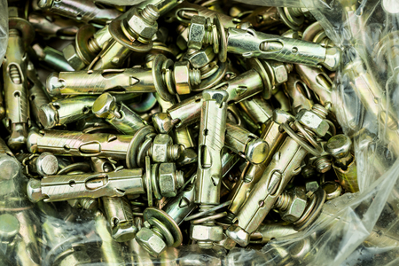 holdfast: Expansion screw high strength industrial Stock Photo