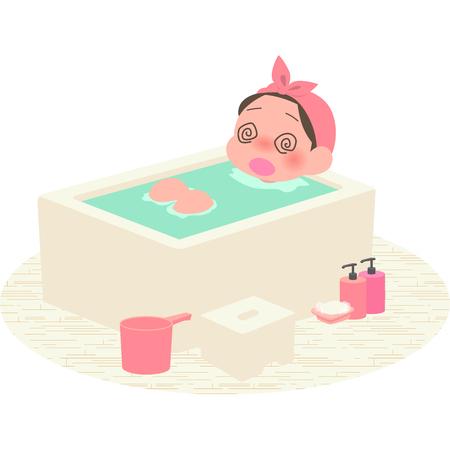Women got a head rush in the bath