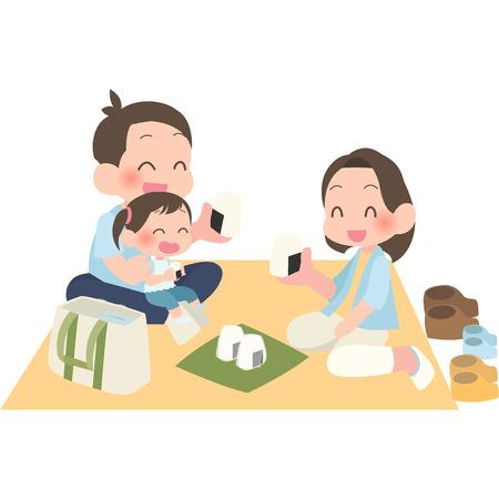 Family picnic Illustration