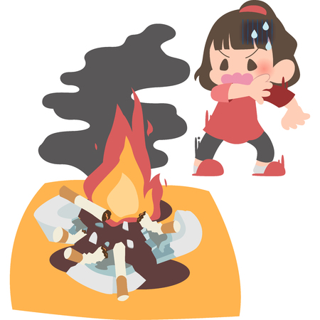 Notice the fire woman Illustration