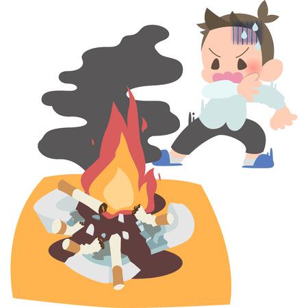 Fíjate en el hombre del fuego