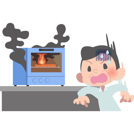 He noticed the fire and panic