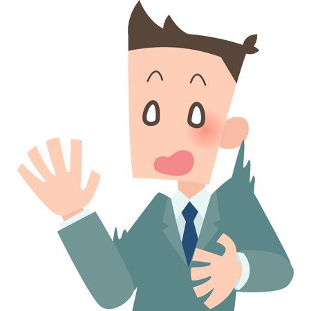 Office workers surprised Ilustração