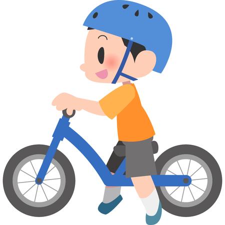 Boys balance bike ride