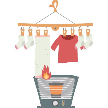 Burning of the washing