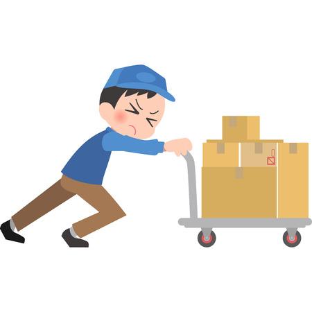 Deliveryman hit a heavy truck Illustration
