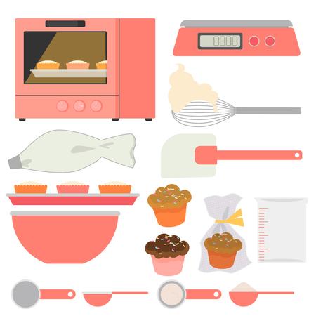 Baking set Stock Illustratie