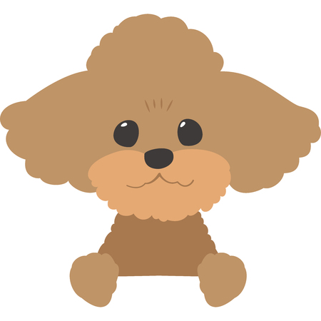 Dogs ran Apple bottoms face (toy poodle) Illustration
