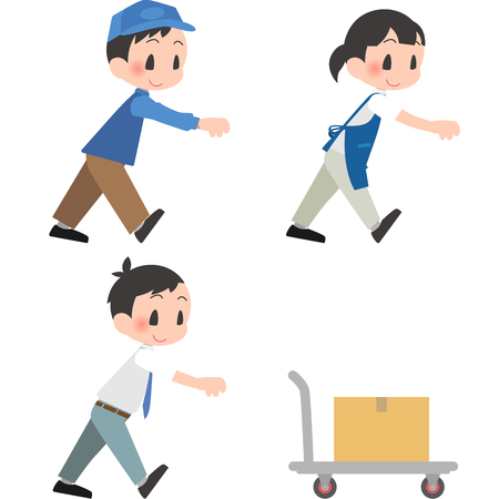 Push the trolley set Illustration
