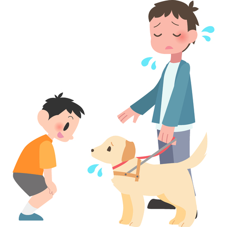 Man trouble is to talk to the dogs  イラスト・ベクター素材