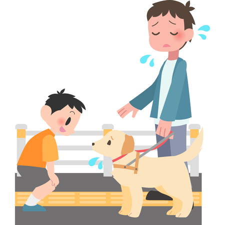 Man trouble is to talk to the dogs Illustration