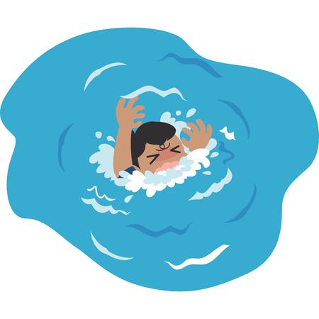 Drowning men Stock Illustratie